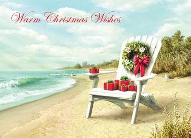 Magnolia Wreath with Chair on the Beach