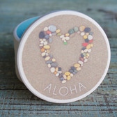 Aloha Stone Heart Car Coaster