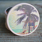 Lifeguard Shack Aloha Car Coaster