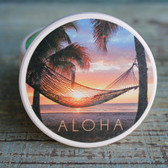 Aloha Hammock at Sunset Car Coaster