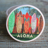 Aloha Surfboard Fence Car Coaster
