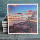 Rocky Shore Sunset Coaster