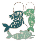 Mermaids Tin Ornaments