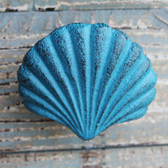 Blue Scallop Shell Iron Knob