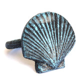 Blue Scallop Napkin Ring