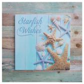 Starfish Wishes Tile Slat Sign