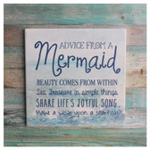 Mermaid Advice Trivet Sign