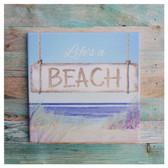 Life's a Beach Trivet Sign