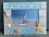 Beach Frame with Fish Net and Starfish