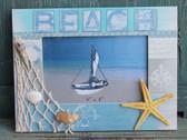 Beach Frame with Fish Net and Starfish