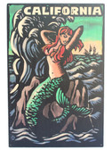 California Mermaid Scratchboard
