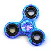 Blue Splatter Fidget Spinner