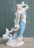 Blue Tail Mermaid with Shell