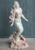 Green Capiz Standing Mermaid