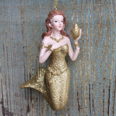 Gold Mermaid Ornament