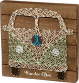 Wander Often VW Bus String Art Sign