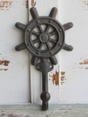 Ships Wheel Iron Hook