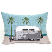 Trailer & Palms Pillow
