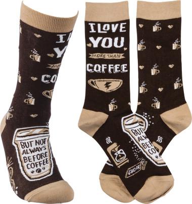 I Love You More Than Coffee Socks