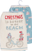 Christmas is Better at the Beach Dish Towel Set