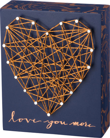 Love You More - Blue & Gold Heart