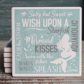 Mermaid Typography Coaster