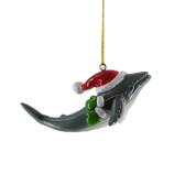 Whale Santa Hat Ornament