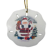 Santa Scene Sand Dollar Ornament