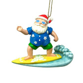 Surfing Santa Ornament