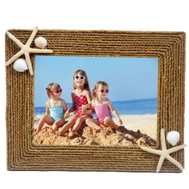 Rope 5x7 Picture Frame with Starfish
