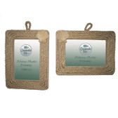 Rope Scallop Shell Frame - Set of 2
