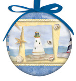 Lighthouse Collage Ball Ornament