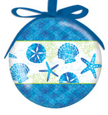 Beach Batik Ball Ornament