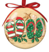 Holiday Flop Flop Ball Ornament