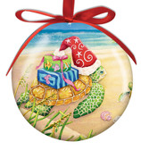 Sea Turtle with Presents Ball Ornament