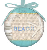 Beach Ribbon Ball Ornament