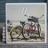 I Love Us Bicycle Coaster