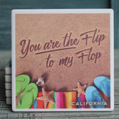 Flip to My Flop California Coaster