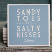Salty Kisses Blue California Coaster
