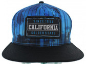 Blue Sublimation Palm Flat Bill Hat