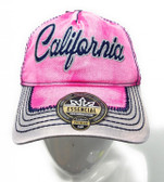 California Pink Washed Denim Hat