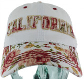 California Light Floral Curved Bill Hat