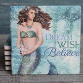 Dream Wish Believe - Mermaid Coasters