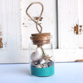 Starfish Beach Bottle Ornament with Ocean Sand