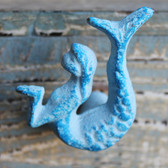 Blue Mermaid Iron Knob