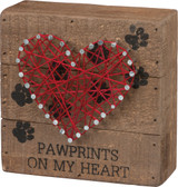 Pawprints on My Heart String Heart