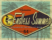 Endless Summer Surfing Movie Metal Tin Sign