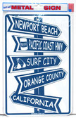 Newport Beach Street Signs