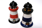 Ceramic LIghthouse Salt & Pepper Shakers (Set of 2)