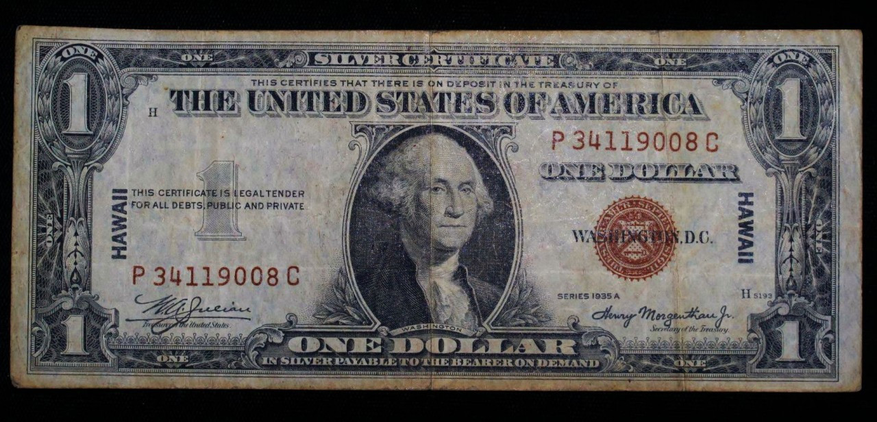1 1935 A Silver Certificate Hawaii Note Northern